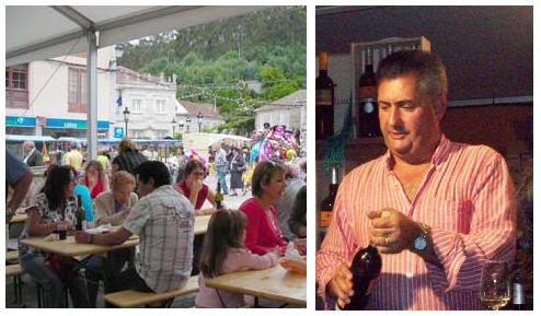 Unha vista da festa e Antonio Méndez en primeiro plano