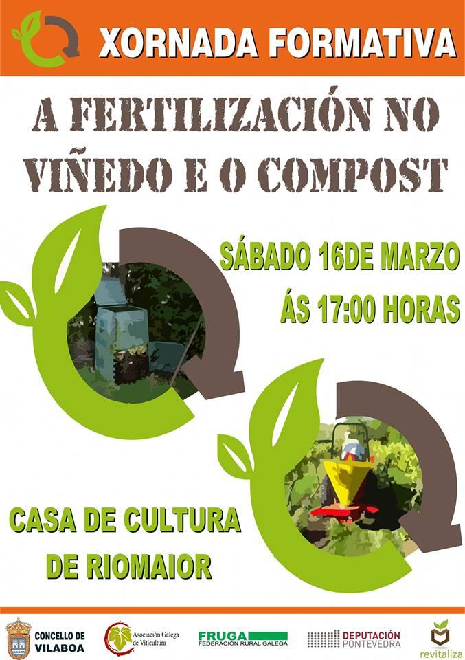 Fertilización no viñedo con compost