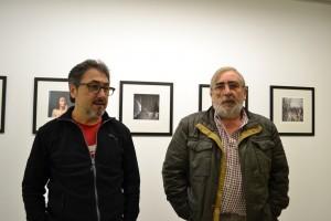 Manuel Da Cal e Xose Alfredo Pereira, intres antes de comezar a rolda de imprensa